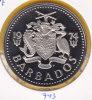 @Y@  Barbados  2 Dollar  1974  Proof   Pp    (743) - Barbados (Barbuda)
