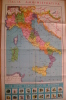C0578 - Inserto Scuola It.Moderna 1956 - MANIFESTO - CARTINA - MAP GEOGRAPHIC - ITALIA - Carte Geographique