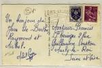 """"""" LONS-LE-SAUNIER / JURA / 11-8-1958 """" + """" LONS-LE-SAUNIER / PORTE DU JURA TOURISTIQUE ... """" - N° 508 - Oblitérations Mécaniques (flammes)"""