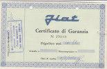 C0589 - Certificato Garanzia FRIGORIFERO FIAT Mod.190 Anni ´60/ELETTRODOMESTICI/MODERNARIATO - Scienze & Tecnica
