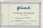 C0590 - Certificato Garanzia FRIGORIFERO FIAT Mod.165 Anni ´60/ELETTRODOMESTICI/MODERNARIATO - Scienze & Tecnica