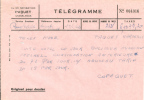 Cie DE NAVIGATION PAQUET à CASABLANCA - TÉLÉGRAMME - 1962 - Titres De Transport