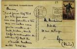 """"""" LILLE R.P. / NORD / 18-1-1954 """" + """" EN TOUTES CIRCONSTANCES / DITES LE AVEC / DES FLEURS """" - N° -- - Mechanical Postmarks (Advertisement)"""