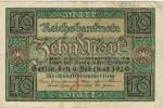 Billete 10 Mk Alemania Reich 1920. Reichbanknote - [ 3] 1918-1933 : República De Weimar