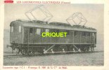 Locomotives Electriques, Machine 1 C 1 , Midi , Notes Techniques Au Verso, éd D. F. I.  E 18 - Matériel