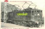 Locomotives Electriques, Machine E 3401 , Midi , Notes Techniques Au Verso, éd D. F. I.  E 22 - Matériel