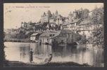 13365/ UZERCHE, Les Vieux Châteaux Et Partie De Pêche Féminine Dans La Vézère, 1927, 2 Scans - Uzerche