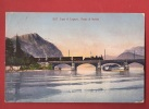 X0341 Ponte Di Melide, Lago Di Lugano, Treno,ligne De Chemin De Fer,bâteau. Cachet 1909. Wehrli 18237 - TI Tessin