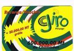 MOZAMBICO (MOZAMBIQUE)  - GIRO  (GSM RECHARGE) - 600.000 + 30.000 - USED   -  RIF. 820 - Mozambique