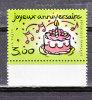 """FRANCE / 1999 / Y&T N° 3242 ** : """"Joyeux Anniversaire"""" (Gâteau & Bougies) - Gomme D'origine Intacte - France"""