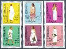 SOMALIA 1975  SOMALI WARRIOR TRADITIONAL SOMALI COSTUMES SC# 418-423 VF MNH - Somalia (1960-...)