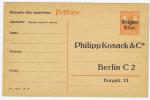 Belgium: Carte Des Etapes à 8 C., Surchargée Belgien. Privat Postkarte  Philipp Kosack