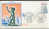 FRANCE 1980 FDC YV 2088 JEAN BART, DUNKERQUE, DUINKERKEN. BLANC. - FDC