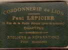 CHARTRES/Bloc-notes Publicitaire/Cordonnerie/ Lépicier/vers 1930-1940          VP288 - Old Paper