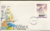 NEVIS 1980 FDC WINDJAMMER, SAILING SHIP, SEGELSCHIFF, VOILIER, ZEILSCHIP. BLANC. - St.Kitts En Nevis ( 1983-...)