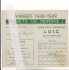 Lessines 1948 1949 LOFC Ligues Ouvrières Féminines Chrétiennes Carte De Membre Ath - Cartes