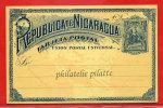 NICARAGUA ENTIER POSTAL 3 C NEUF COVER - Nicaragua