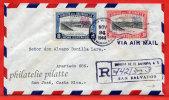 SALVADOR LETTRE RECOMMANDEE DU 24/11/1944 DE SAN SALVADOR POUR SAN JOSE COSTA RICA COVER - Salvador