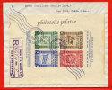 SALVADOR BLOC NON DENTELE SUR LETTRE RECOMMANDEE DU 08/11/1946 DE SAN SALVADOR POUR SAN JOSE COSTA RICA COVER - Salvador