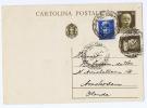 Italy, Cartolina Postale 1932 Milano To Amsterdam, Used. Michel P 84 - Interi Postali