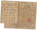 Carte De Rationnement De TABAC 1946 - Débit PEYRONNAUD - Limoges (87) - Documents