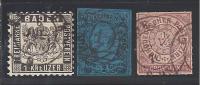 Allemagne  Anciens  Etats - Lot  De  3  Timbres     Cote : 51 € - Collections