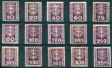 DANZIG Porto 1921-22 - Mi.1-14 MH (mixed Cond.) - Dantzig