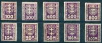 DANZIG Porto 1923 - Ex Mi.15-25 (no 16) MH (2 MNG) - Dantzig