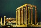 Athens - The Olymbion Illuminated - Viaggiata - Formato Grande - Grecia