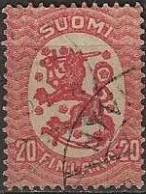 FINLAND 1917 LION 20p. Red FU - Finland