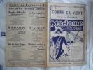 1923 THEATRE DAUNOU N° 11  MADAME COMME CA VIENT CHANT DAVIA A WILLEMETZ H CHRISTINE - Partitions Musicales Anciennes