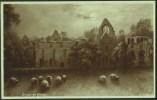 """Dryburgh Abbey"",  A C1925 Postcard  Based On A Painting By Elmer Keene.  (sheep) - Berwickshire"