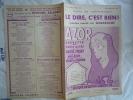 1932 THEATRE DES BOUFFES PARISIENS AZOR N° 5 LE DIRE C'EST BIEN CHANT GABAROCHE R PRAXY G GABAROCHE MAX EDDY