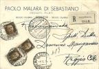 LOTTO LOT PUBBLICITARIA Raccomandata Moda Tessuti Polistena X Reggio Calabria Imperiale 3 X 30 C. - Marcophilie