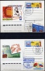 Russia 1997 WORLD PHILATELIC EXHIBITION «Moscow-97» 12 Postcards With POSTAGE STAMPS The CAMP Of PARTICIPANTS EXHIBITION - Briefmarkenausstellungen