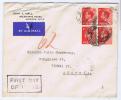 Great Britain:  FDC 1936 SG 458, 1 D, Dd 14-9-1936, In 4-block, To Austria, - FDC