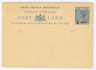 Ceylon Post Card 5 Cents Overprint. - Ceylon (...-1947)