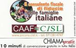 *CHIAMAGRATIS - N.1135 - CAAF-CISL ANCONA* - Scheda NUOVA (MINT) (DT) - Sin Clasificación