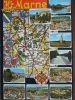 52 - HAUTE-MARNE - Chevillon, Doulaincourt, Chalindrey, Langres, Montier En Der, Nogent, Joinville. (Carte Géographique) - Frankreich