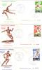 GABON - FDC - Poste Aérienne - Yvert N° PA 184 à 186 - Jeux Olympiques Montréal - Athlétisme Football - Gabon (1960-...)
