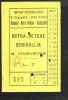 Arcevia -ostra Vetere -senigallia  Biglietto Servizio Automobilistico G.magagnini Anni 30/40 - Autobus