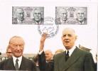Tarjeta Maxima Tratado Cooperacion FRANCIA Y ALEMANIA 1988 - Cartas Máxima