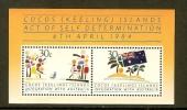 COCOS ISLANDS 1984 MNH Block B4 Integration - Cocos (Keeling) Islands
