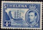 St. Helena - 1938 KGVI 4d MH* - Saint Helena Island