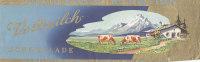 Verpackungshülle Vollmilchschokolade Der Fa. Titania, Schwandorf, 200Gr. Motiv: Alpen, Kühe, Bauernhaus - Schokolade