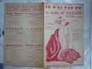 1923 LA DAME EN DECOLLETE JE N'AI PAS PU CHANT DRANEM M YVAIN Y MIRANDE L BOYER - Partitions Musicales Anciennes