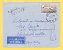 LP28 Op Brief Per Luchtpost / Par Avion Met Stempel BRUGGE Naar Congo Belge , Met Stempel TROUVE A LA BOITE - Airmail