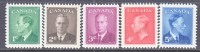 Canada 289-93   ** - 1937-1952 Reign Of George VI