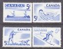 Canada 365-8   **  SPORTS  FISHING SKIING SHOOTING  SWIMMING - 1952-.... Reign Of Elizabeth II