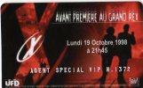 **** CARTE CINEMA-CINECARTE   X-FILES    Avant Premiere Au Grand Rex **** - Movie Cards